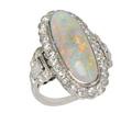 Vintage Opal & Diamond Cluster Ring