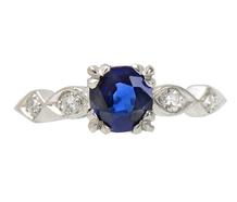 Blue Serenade - Sapphire Diamond Engagement Ring