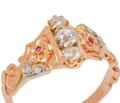 Edwardian Flowers - Diamond Ruby Ring