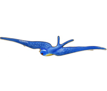 Art Deco Blue Bird Swallow Brooch