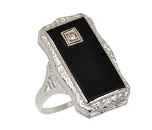 Secret Compartment - Onyx Filigree Ring