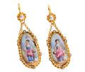 Antique French Enamel Earrings