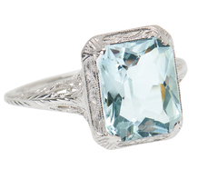 Vintage Cool in an Aquamarine Ring