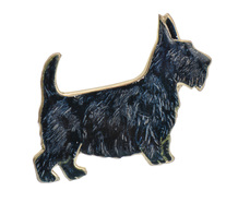 Woof - Vintage Scottie Dog Silver Brooch