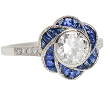 Gentle Flower - Sapphire & Diamond Ring