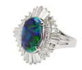 Excitement - Black Opal Diamond Ring