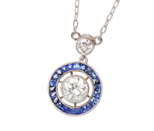 Plaything - Sapphire & Diamond Necklace