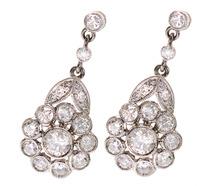 Diamond Madness - Flower Drop Earrings