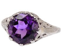 Wealth & Power - Art Deco Amethyst Ring