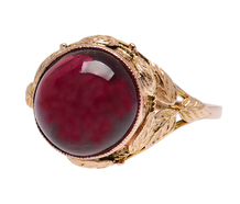 Organic Inspiration - Art Nouveau Garnet Ring