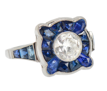 Vision in Blue - Diamond Sapphire Ring