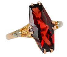 Vintage Fancy Cut Garnet Ring
