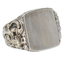 19th C. Antique Silver Signet Ring