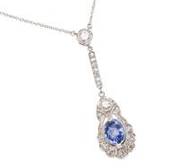 Gems Delight - Sapphire Diamond Necklace