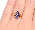 Graceful Antique Sapphire Diamond Ring