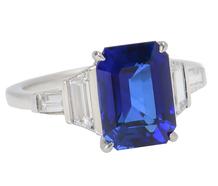 Legendary No Heat Kashmir Sapphire Ring