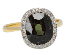 Rare Alexandrite Diamond Halo Ring