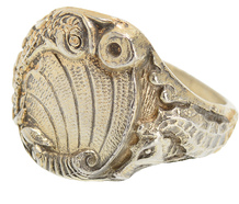 Ocean Roar - Art Deco Silver Gilt Ring