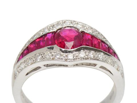 Color Rush - Ruby Diamond Ring