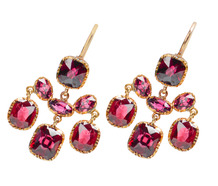 After Glow - Almandine Garnet Girandole Earrings