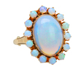 Celestial Halo - Vintage Opal Ring
