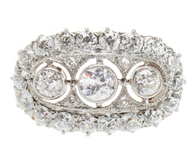 Antique Radiance in a Diamond Ring
