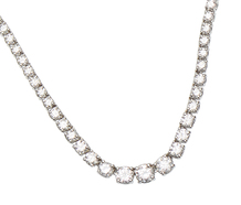 Elegant Diamond Riviere Necklace