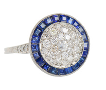 Circle of Life - Sapphire Diamond Ring