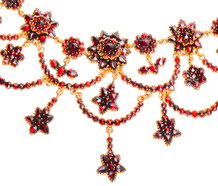 Festivities - Boho Chic Garnet Vintage Necklace