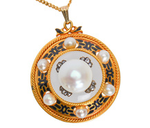 Victorian Rock Crystal Pearl Pendant