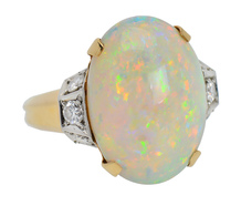 Far Vistas - Australian & Opal Diamond Ring