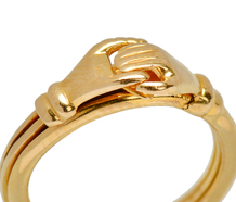 English Fede Gimmel Ring in 18k Gold