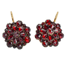 Boho Beauty - Antique Bohemian Garnet Earrings