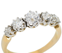 Five Diamond Engagement Ring