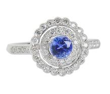 Destiny - Sapphire Diamond Halo Ring