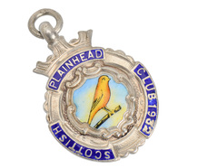 Vintage Canary Bird Club Pendant of 1932