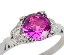Sassy - Pink Purple Sapphire Diamond Ring