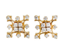 Glittering Snowflake Diamond Earrings