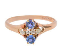 Edwardian Diamond Sapphire Ring of 1905