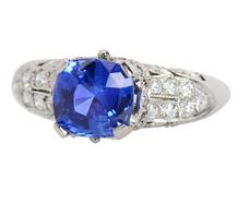 Artistry - Sapphire Diamond Engagement Ring