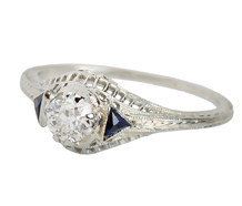 Art Deco Delight with Diamonds & Sapphires