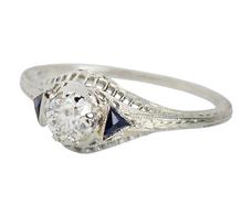 Art Deco Delight with Diamonds & Sapphires