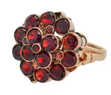 Crowned - Bohemian Garnet Cluster Ring