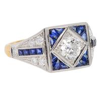 Diamond Sapphire Engagement Ring
