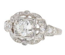 Be Mine - Art Deco Engagement Ring