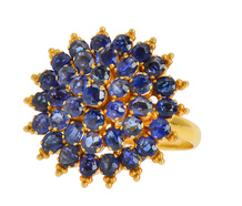 Out of the Blue - Estate Sapphire Cluster Ring