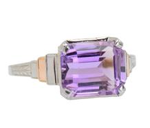 Flip Side - Art Deco Amethyst Ring