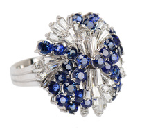 Pleasure Dome - Sapphire Diamond Ring