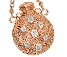 The Scent of Flowers  - Gold Perfume Pendant