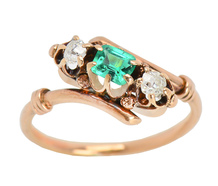 Victorian Sensuality - Diamond Emerald Ring